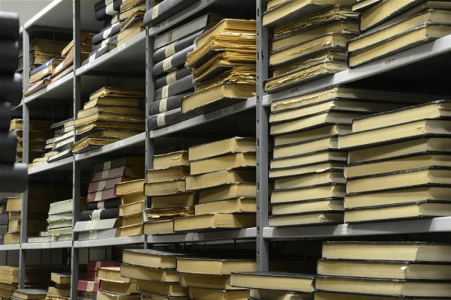 """Mehrere Jahrzehnte Zeitungsgeschichte sind im Archiv der """"Freien Presse"""" zugänglich."""
