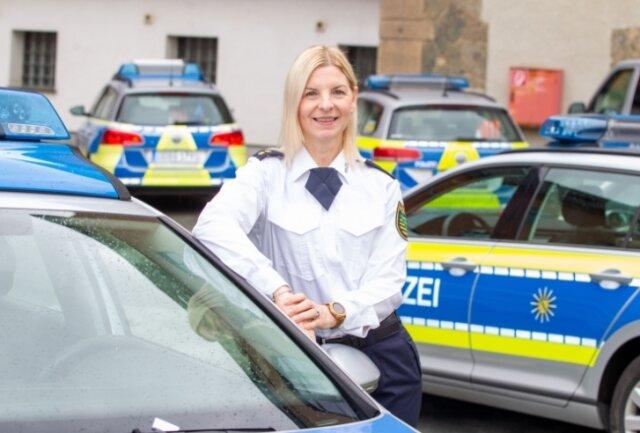 Polizeioberrätin Antje Reinhold ist die neue Leiterin des Plauener Polizeireviers.