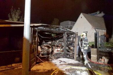 Im Oktober brannte eine Garage an der Chemnitzer Straße in Wittgensdorf komplett aus.