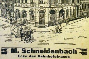 1906 war die heutige Stadtbibliothek noch ein Geschäft für Möbel.