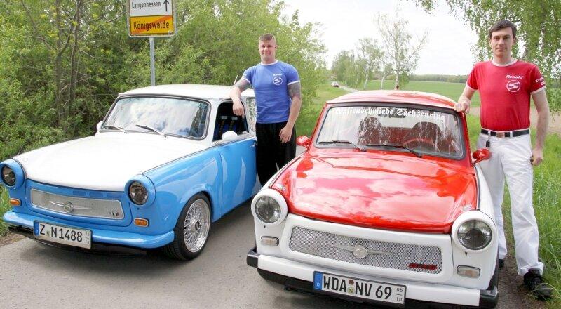 """<p class=""""artikelinhalt"""">Kevin Richter (links) und Ronald Zenker aus Königswalde haben sich auf den Weg nach Italien gemacht.</p>"""