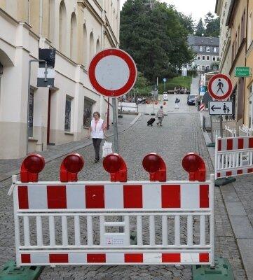 Am Mittwoch waren noch keine Handwerker in der Weinkellerstraße zu sehen.