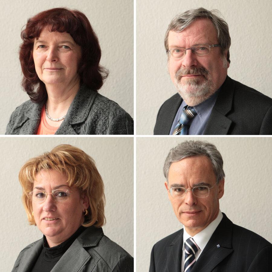 Die Experten: oben: Notarin Marlies Scholz und Notar Andreas Könitzer; unten: Notarin Steffi Schöttle und Notar Alfons Hueber.