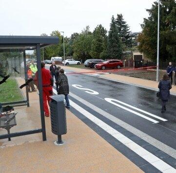 Auch eine neue Bushaltstelle wurde aufgebaut.