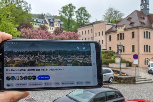 """Die Facebook-Gruppe """"Wir Hohenstein-Ernstthaler halten zusammen"""" ist mit knapp 3200 Mitgliedern die größte Gruppe in dem sozialen Netzwerk, in der über das Stadtleben diskutiert wird."""
