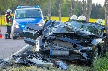 Der Ford Mustang war nach dem Unfall ein Totalschaden.