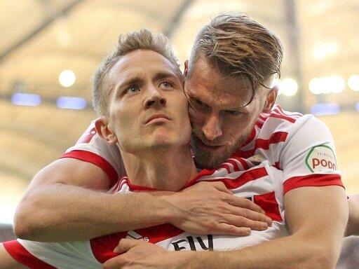 Lewis Holtby und Aaron Hunt treffen für den HSV