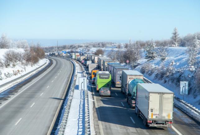 Am Grenzübergang Breitenau auf der A17 kam es aufgrund der Kontrollen zu Stau.