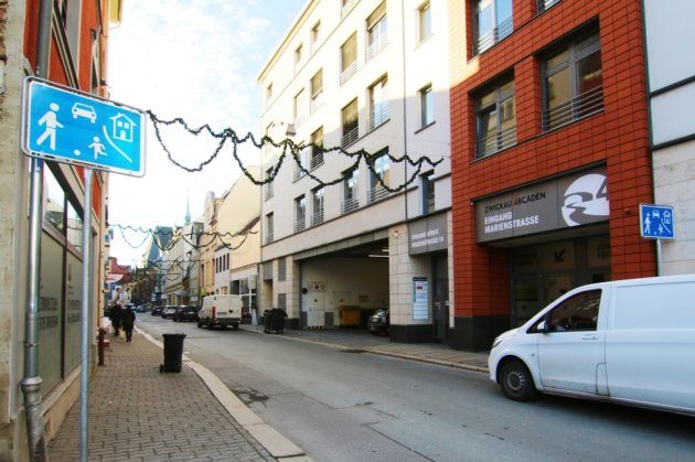 Die Marienstraße wird für ein Jahr lang zum verkehrsberuhigten Bereich.