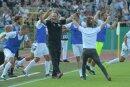 Ulmer feiern ihren Überraschungssieg gegen Frankfurt