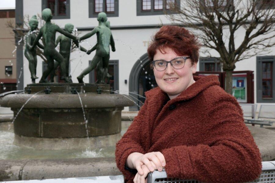 Diana Klein ist die neue Stadtschreiberin in Zwickau. Die Wilhelmshavenerin freut sich über die vielen Wasserspiele in der Stadt - und sie war erstaunt, dass sie ausgerechnet im Schiffchen eine Wohnung bekommen hat.