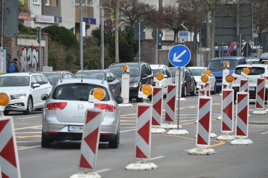 Mehrere Unfälle rund um Chemnitzer Innenstadt-Baustelle