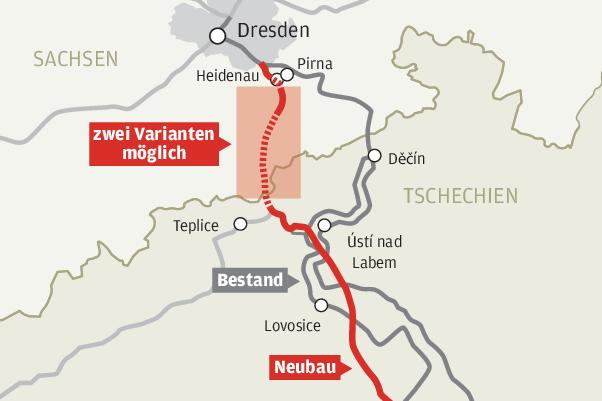 Strecke Dresden-Prag: Im Erzgebirge soll der längste Bahntunnel Deutschlands entstehen