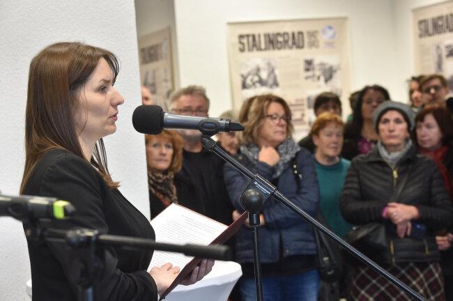 Zur Eröffnung sprach unter anderem die Erste Stellvertreterin des Oberbürgermeisters von Wolgograd, Irina Peschkowa.