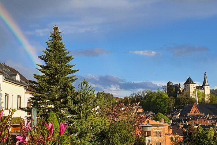 Vorschlag für das schönste Vogtland-Panorama: Der Terrassenblick auf Mylau