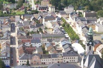 Wohin entwickelt sich Adorf? Blick auf das Stadtzentrum in westlicher Richtung.