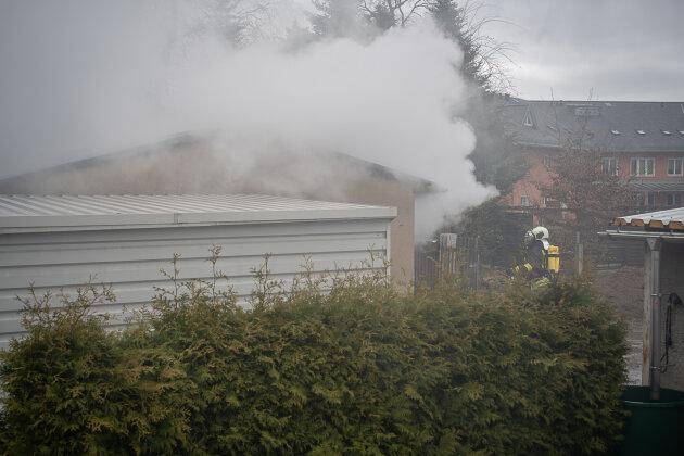 Werkstatt-Brand geht glimpflich aus