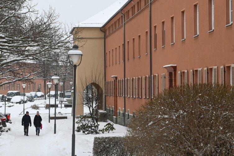 Ein Blick in die denkmalgerecht sanierte Geibelstraße in diesen Wintertagen.