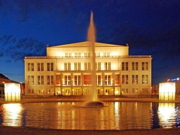 Blick auf das Opernhaus Leipzig.