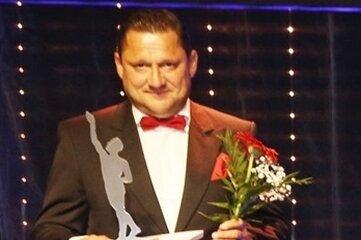 Auszeichnung in Würzburg. Firmenchef Marcel Seidel mit dem Finalisten-Preis.