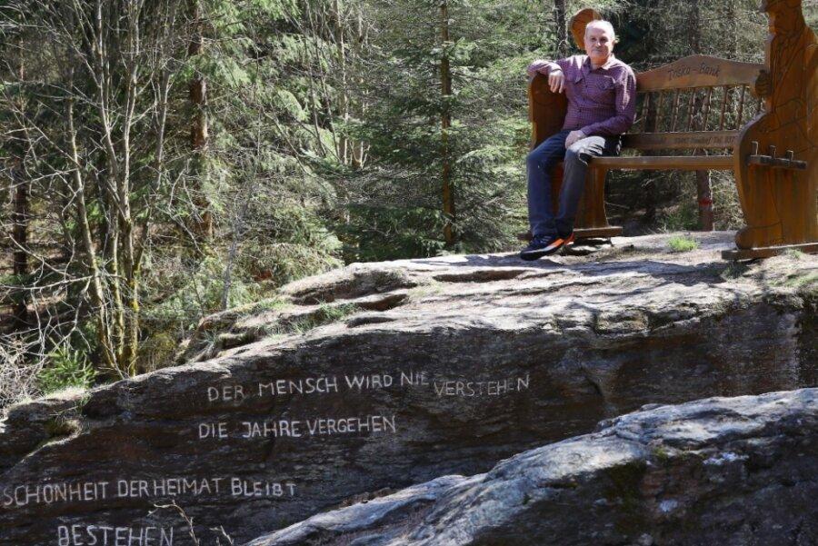Beliebter Aussichtspunkt in Kretscham hat eine lange Geschichte