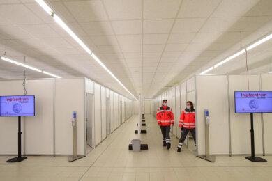Das Impfzentrum in Chemnitz beginnt heute mit dem Betrieb