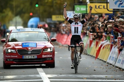 Sören Kragh Andersen jubelt über seinen Sieg
