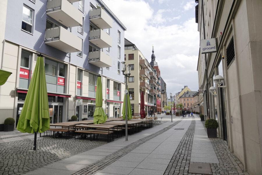 Die Chemnitzer Kneipenmeile ist noch verwaist. Erste Museen, Parks und Ämter öffnen wieder.