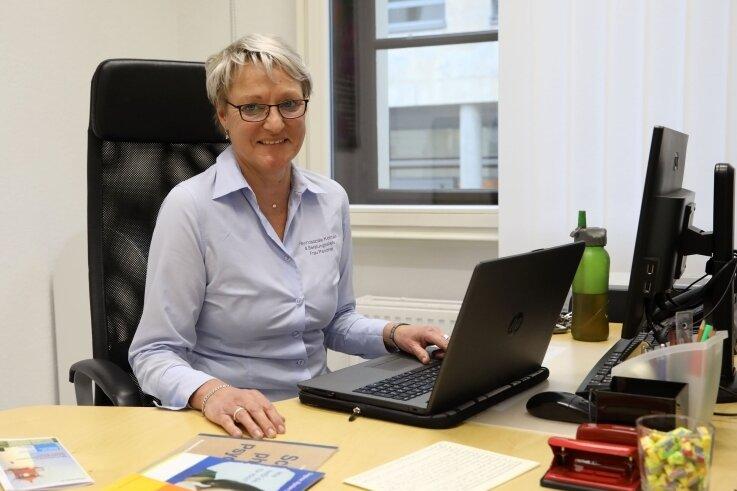 """Beraterin Steffi Panzner ist jetzt auch in Meerane, im Sozialhaus """"Alte Post"""" vor Ort."""