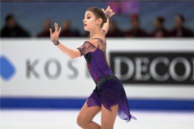 Aljona Kostornaja triumphierte nach dem Grand-Prix-Finale in Turin auch bei den Europameisterschaften 2020 in der Steiermarkhalle Graz. In der Damenkonkurrenz gab es einen russischen Dreifachsieg.