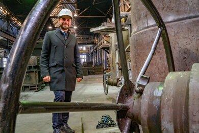 Max Jankowsky, Geschäftsführer der GL Gießerei Lößnitz GmbH.