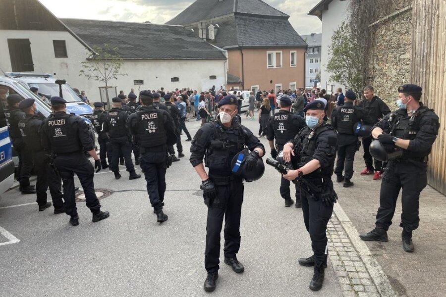 Wie der Corona-Protest in Zwönitz eskalierte