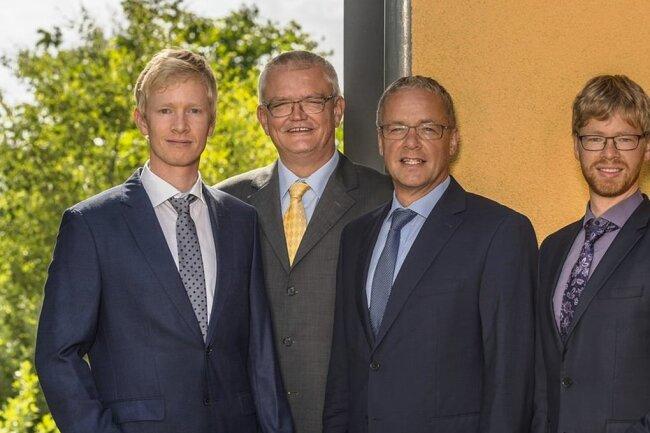 Martin Kritzner, Wolfram Kritzner, Dirk Zönnchen und Georg Kritzner (von links) stellen das Führungsteam des Ingenieurbüros.