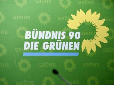 Das Logo der Partei Bündnis 90/ Die Grünen.