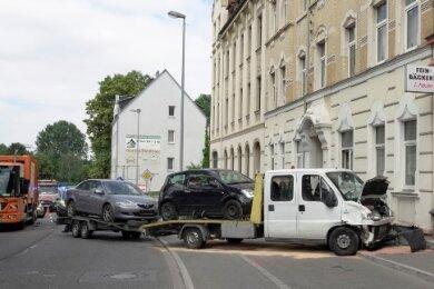Der Unfall ereignete sich auf der Chemnitztalstraße.