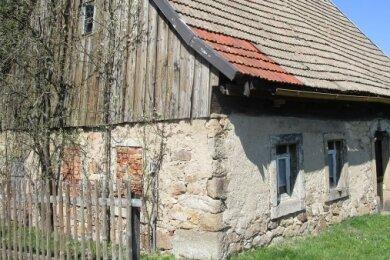 Das abgerissene Haus, errichtet um 1800: Objekt 08980434 von der Liste der Kulturdenkmale in Sachsen.