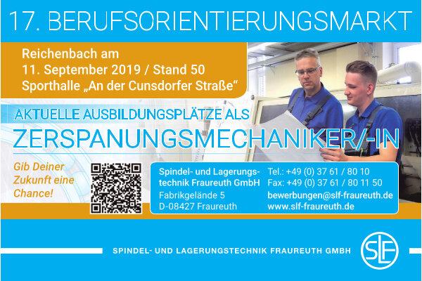 Anzeige: Spindel und Lagertechnik Fraureuth GmbH