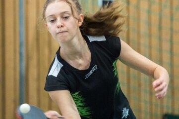 Debora Neuber gewann gegen Lok Zwickau II beide Einzel.
