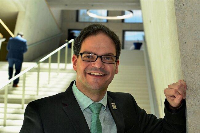 Professor Marc Ritter von der Hochschule Mittweida ist am Donnerstag mit dem Sächsischen Lehrpreis ausgezeichnet worden.