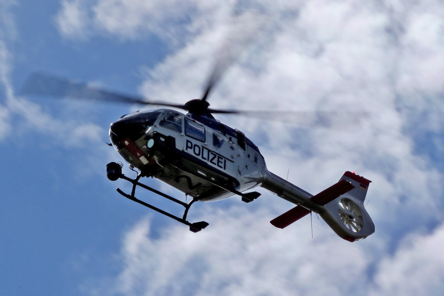 Hubschrauber kreiste über Zwickau