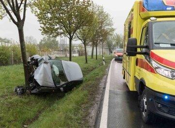 Ein schwerer Unfall ereignete sich am Donnerstag auf der Straße Freiberg - Halsbrücke.