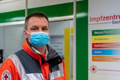 Andy Feig, Leiter des vogtländischen Impfzentrums in Eich: Die Probleme mit den Terminen sind inzwischen weitgehend gelöst.