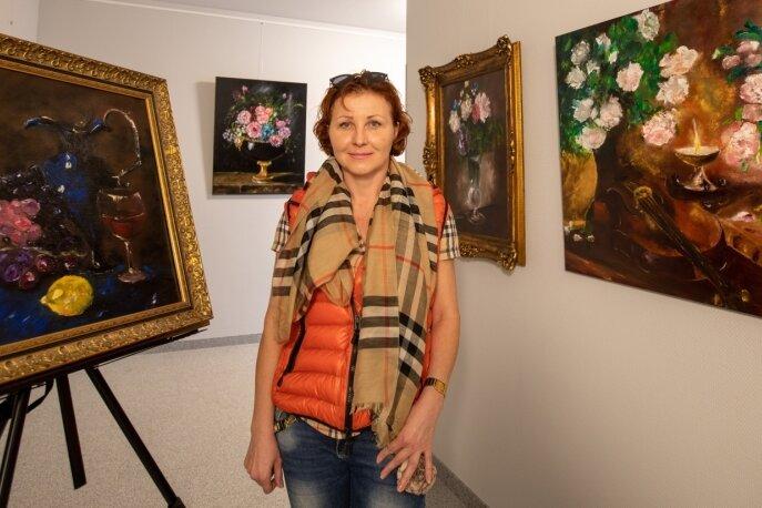 Malerin Lana Tannert zeigt in einer Ausstellung neue Bilder