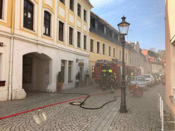 Die Feuerwehr rückte am Freitagnachmittag ins Zschopauer Zentrum aus.