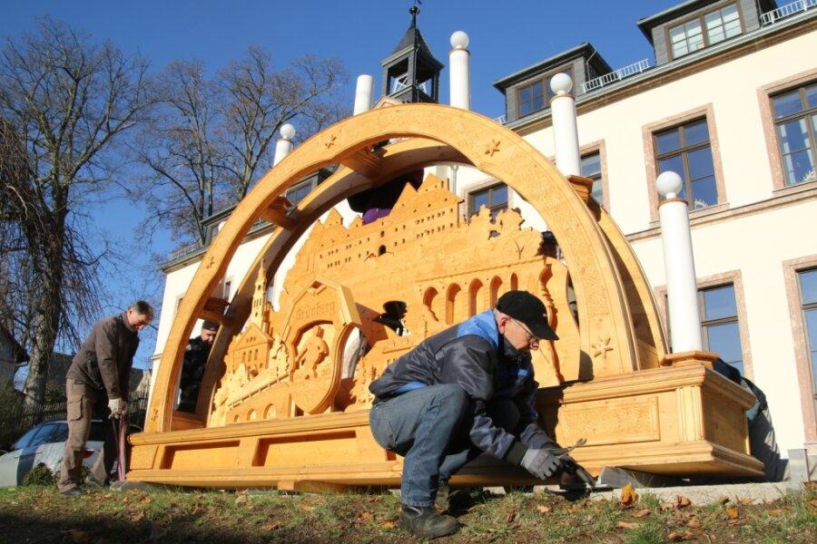 Grünberg schmückt sich für den Advent