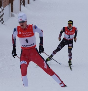 Simen Tiller (vorn) aus Norwegengewann zwei Wettbewerbe.