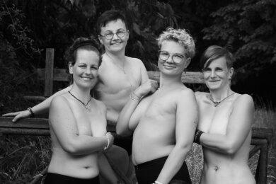 """Vier Frauen aus Sachsen haben in diesem Jahr beim Projekt """"Schön und stark"""" mitgemacht - Lilian Langer aus Annaberg-Buchholz (rechts) ist eine von ihnen."""