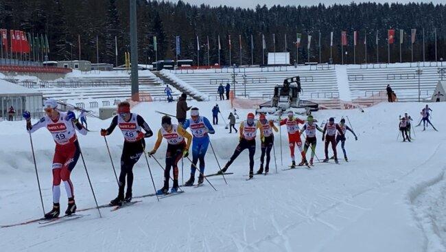 Continentalcup der Nordischen Kombination in der Vogtland-Arena. Wegen der Beschränkungen durch die Corona-pandemie sind keine Zuschauer zugelassen. Das wird auch beim Weltcup im Februar so sein.