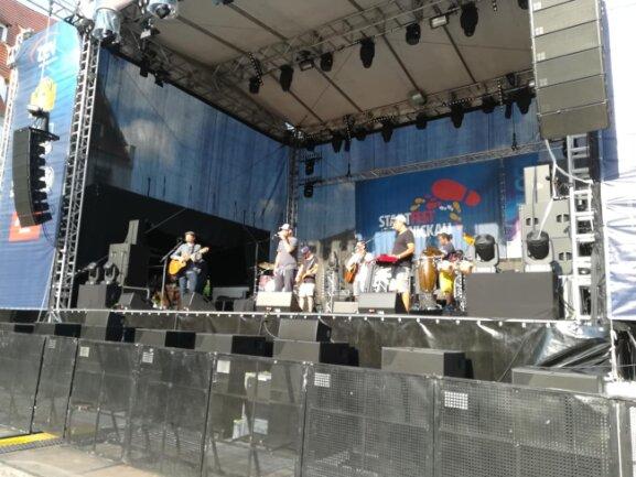 Die Band Marquess beim Soundcheck.