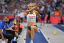 Kristin Gierisch ist bei der EM in Berlin ihre persönliche Bestweite gesprungen.